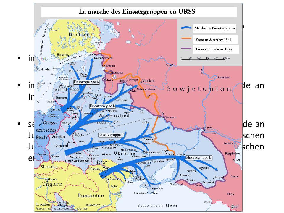 Sonderkommandos des SD und der Sipo im Einsatz seit Beginn des Krieges im Polenfeldzug und auf dem Baltikum: Massenmorde an Intellektuellen seit dem A