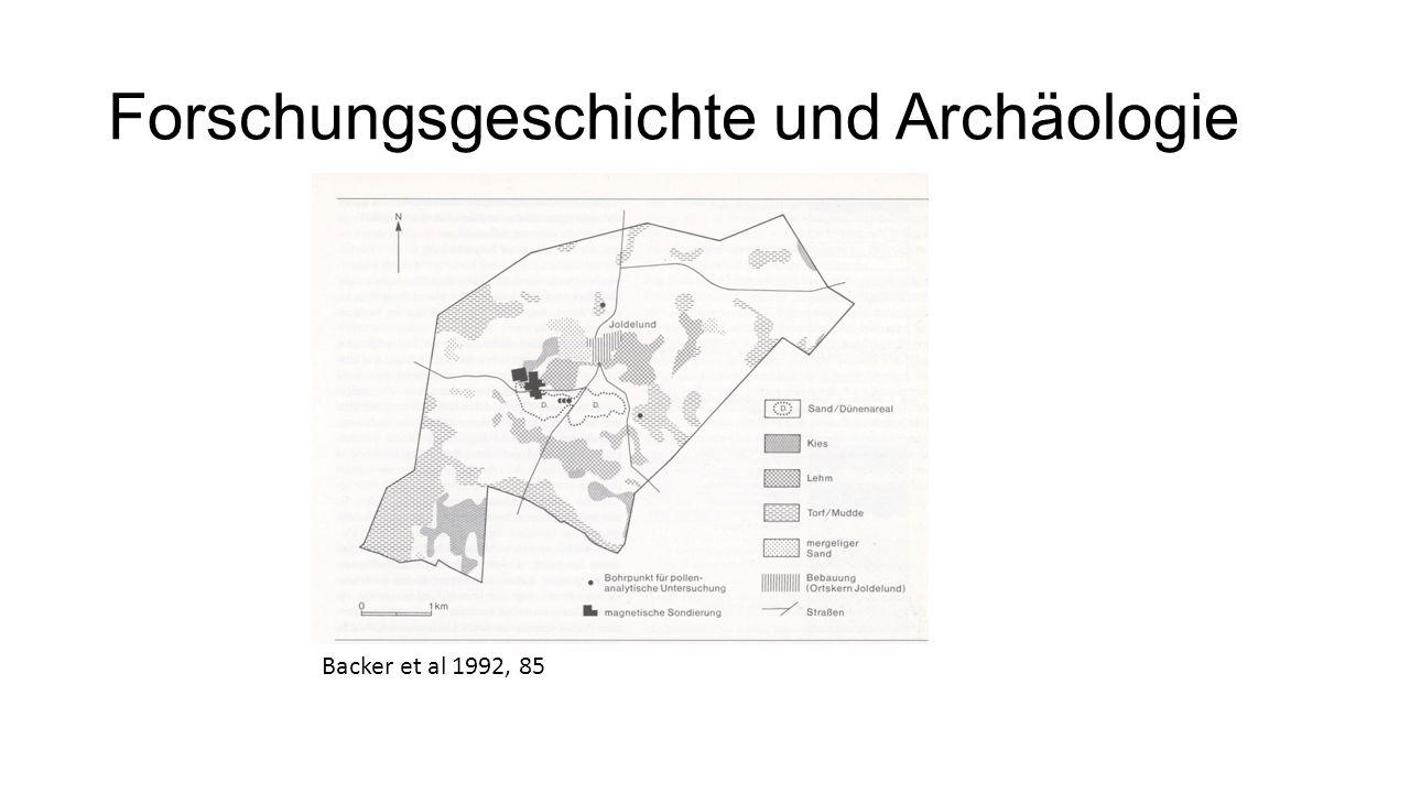 Forschungsgeschichte und Archäologie Backer et al 1992, 85