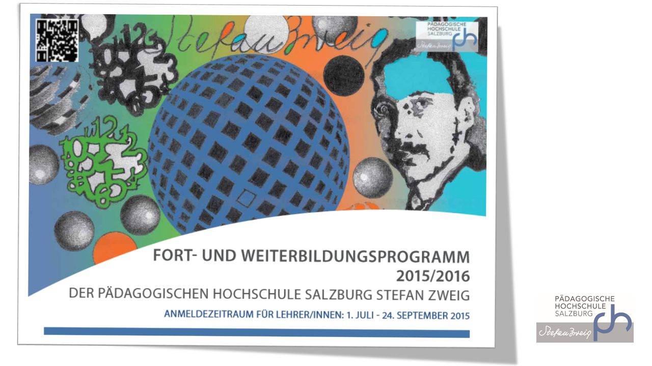Sich über das Angebot informieren PDF-Version zum Blättern http://www.phsalzburg.at/index.php?id=642 http://www.phsalzburg.at/index.php?id=642 Online-Version für die bequeme Suche http://www.phsalzburg.at/jahresprogramm http://www.phsalzburg.at/jahresprogramm