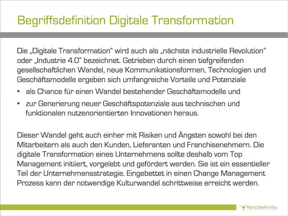 """Begriffsdefinition Digitale Transformation Die """"Digitale Transformation"""" wird auch als """"nächste industrielle Revolution"""" oder """"Industrie 4.0"""" bezeichn"""