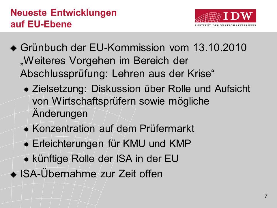 """38 Verhältnismäßigkeit der Dokumentation bei KMU-Prüfungen (4) """"Die Dokumentation des Unternehmensverständ- nisses (einschl."""