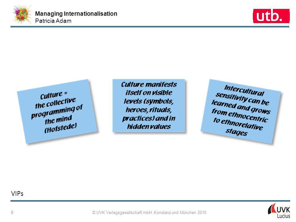 Managing Internationalisation Patricia Adam © UVK Verlagsgesellschaft mbH, Konstanz und München 2015 9 2 ‑ 6: Hofstede's Five Dimensions as a Control Panel