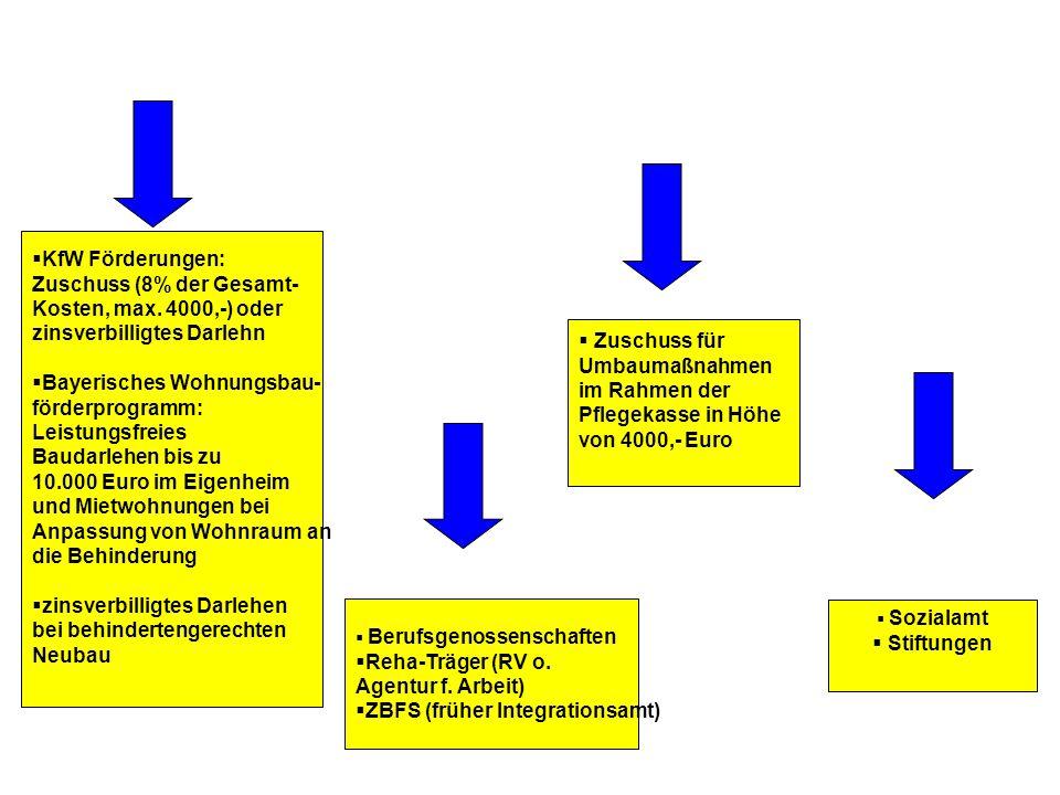  KfW Förderungen: Zuschuss (8% der Gesamt- Kosten, max.