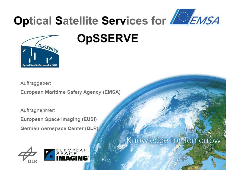 Optical Satellite Services for EMSA OpSSERVE Auftraggeber: European Maritime Safety Agency (EMSA) Auftragnehmer: European Space Imaging (EUSI) German