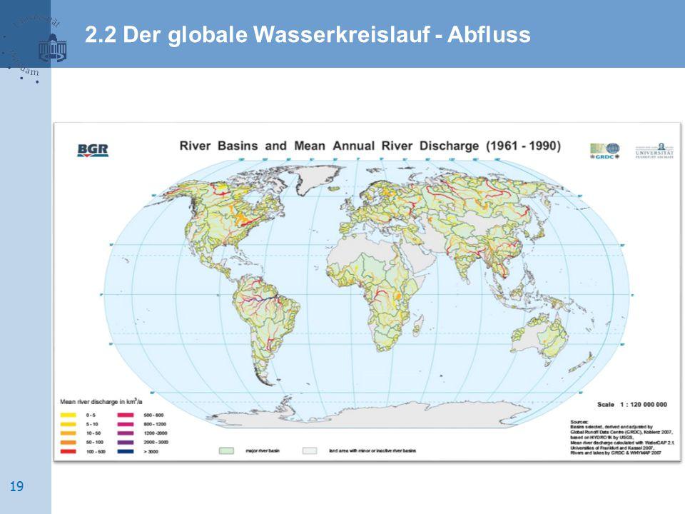 2.2 Der globale Wasserkreislauf - Abfluss 19