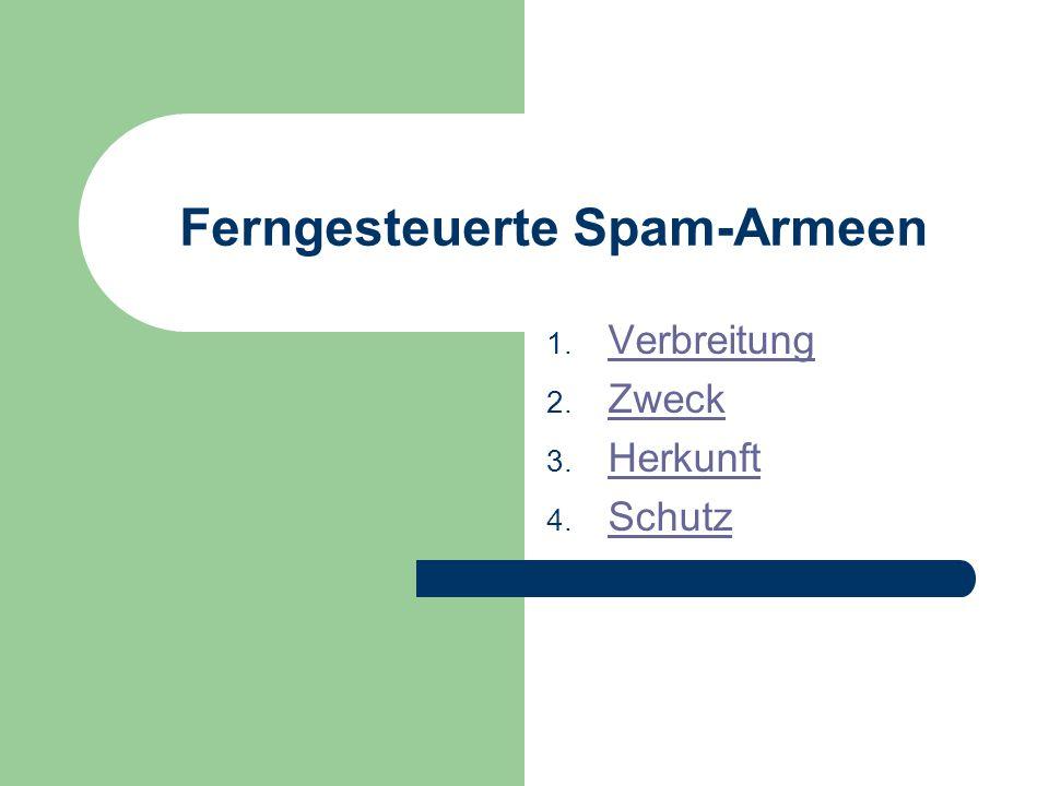 Ferngesteuerte Spam-Armeen 1. Verbreitung Verbreitung 2.