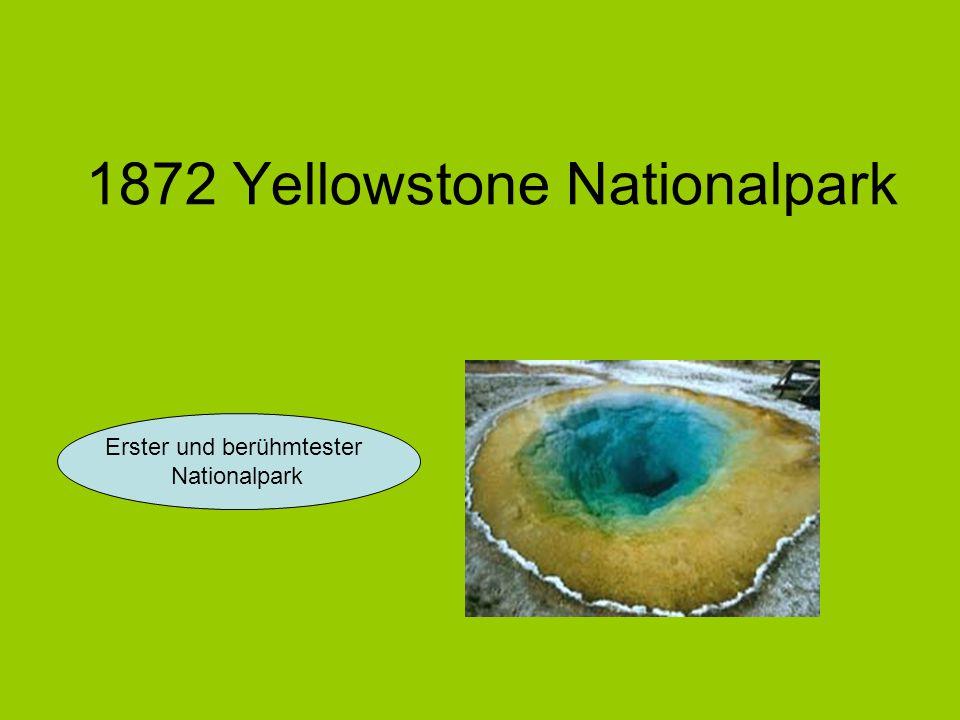 1872 Yellowstone Nationalpark Erster und berühmtester Nationalpark