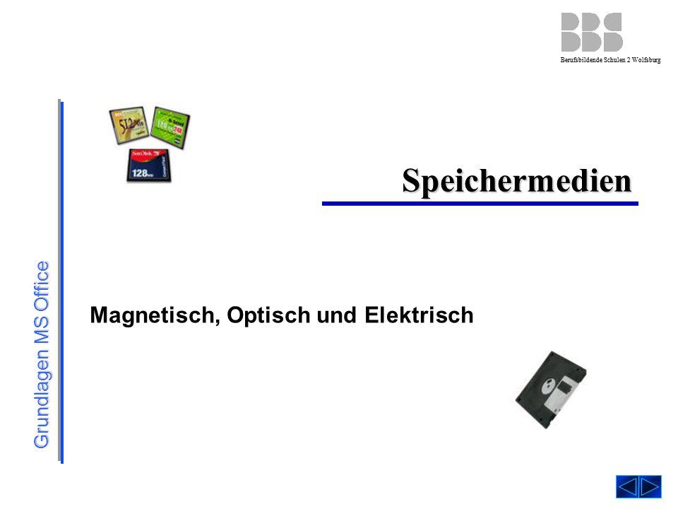 Grundlagen MS Office Berufsbildende Schulen 2 Wolfsburg Speichermedien Magnetisch, Optisch und Elektrisch