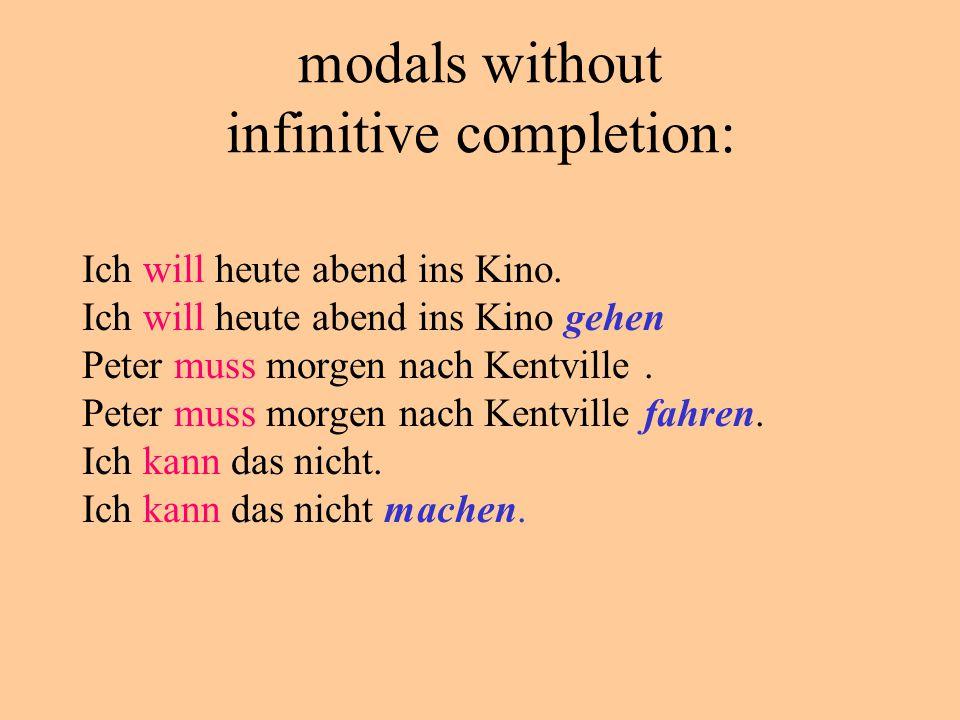 Infinitives and separable prefix verbs anrufen/ mitkommen / zurückfahren / etc.