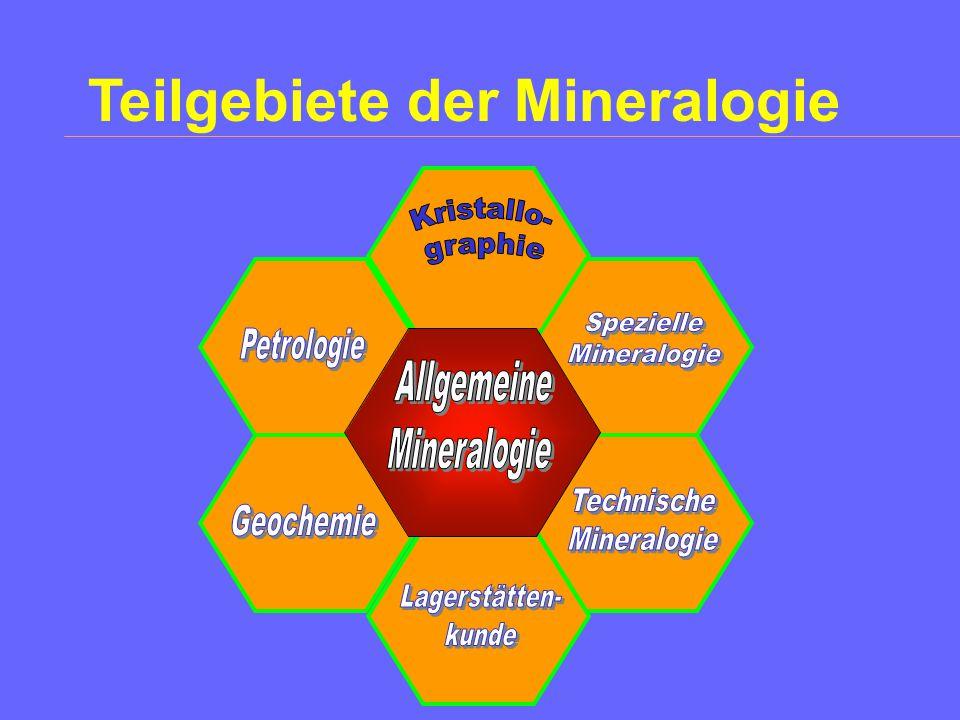 Die Stellung von Kristallographie und Mineralogie in den Naturwissenschaften