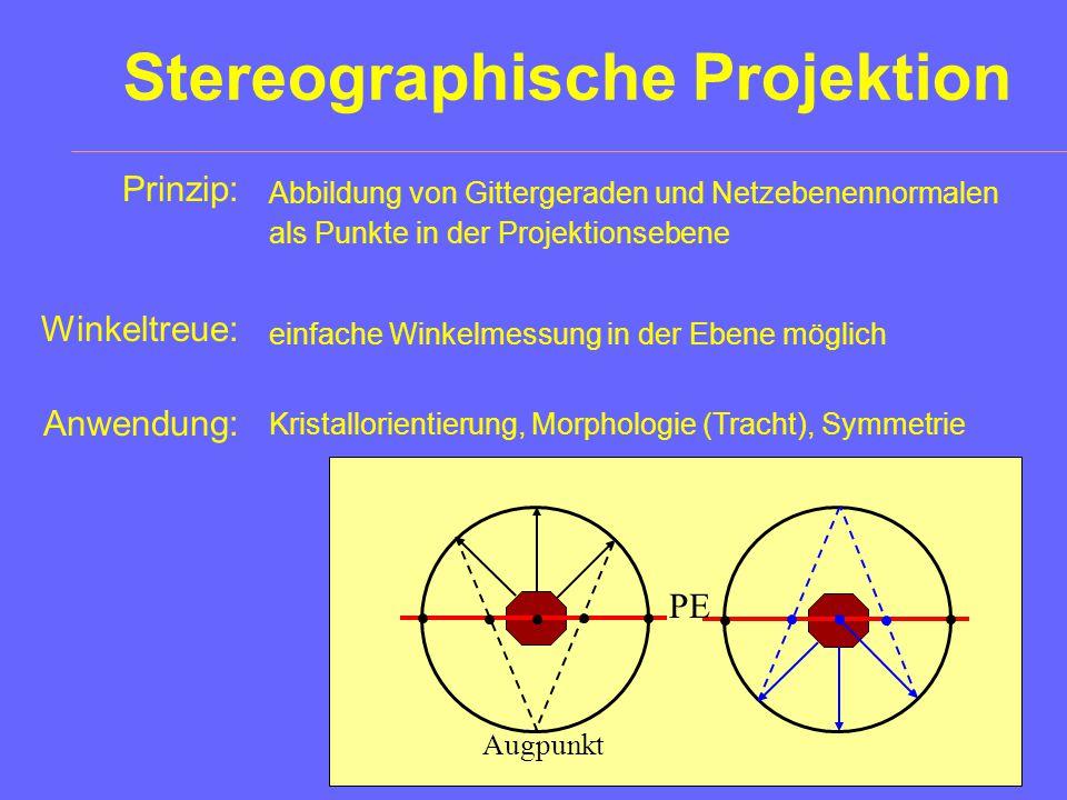 Goniometer Prinzip eines Reflexionsgoniometers: (einkreisig oder zweikreisig) Lampe Goniometertisch mit Kristall Fernrohr