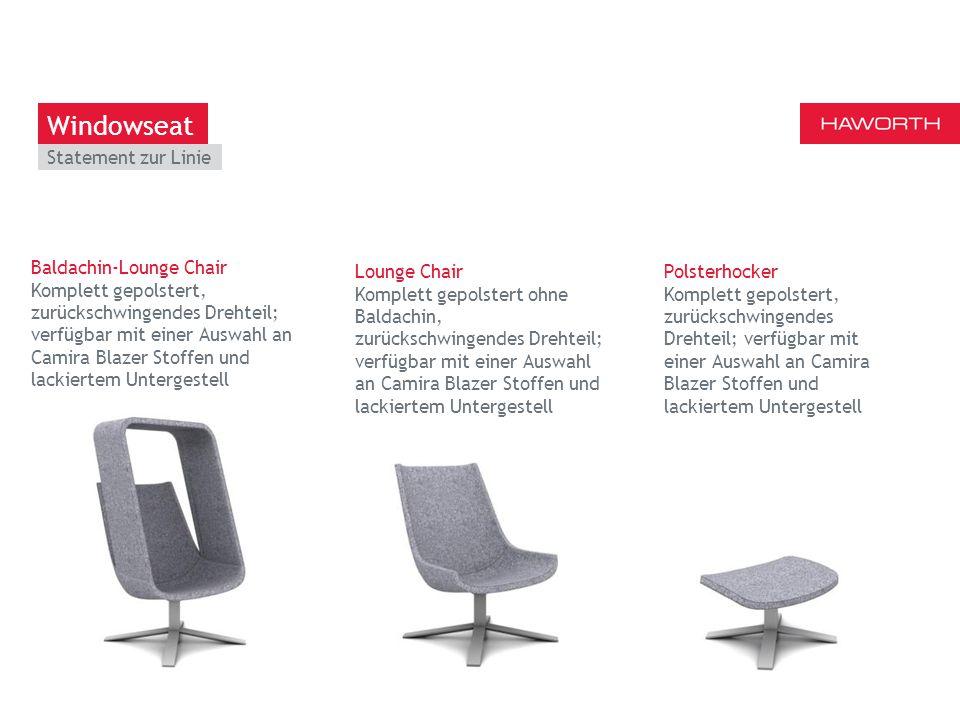 March 13th 2014 | Berlin Baldachin-Lounge Chair Komplett gepolstert, zurückschwingendes Drehteil; verfügbar mit einer Auswahl an Camira Blazer Stoffen