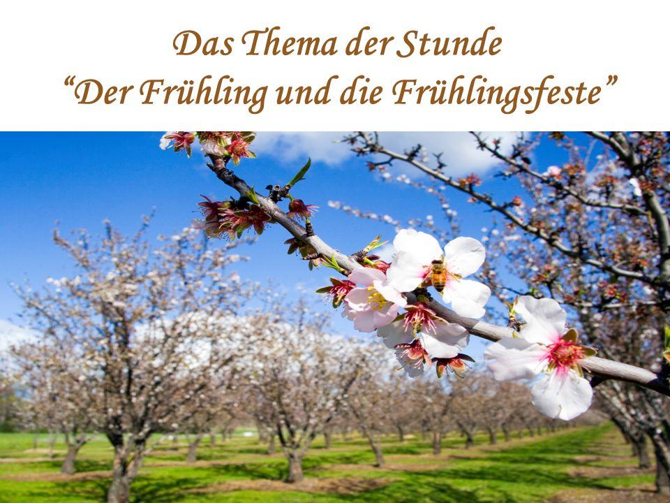 """Das Thema der Stunde """"Der Frühling und die Frühlingsfeste"""""""