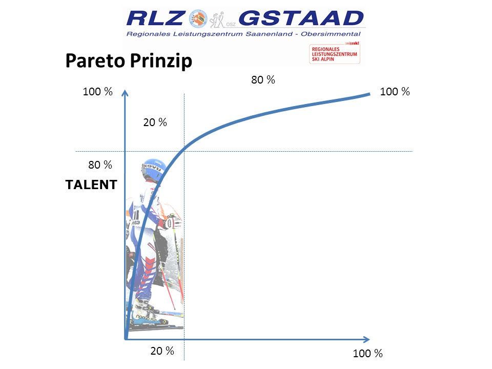Pareto Prinzip 100 % 80 % 100 % 20 % TALENT