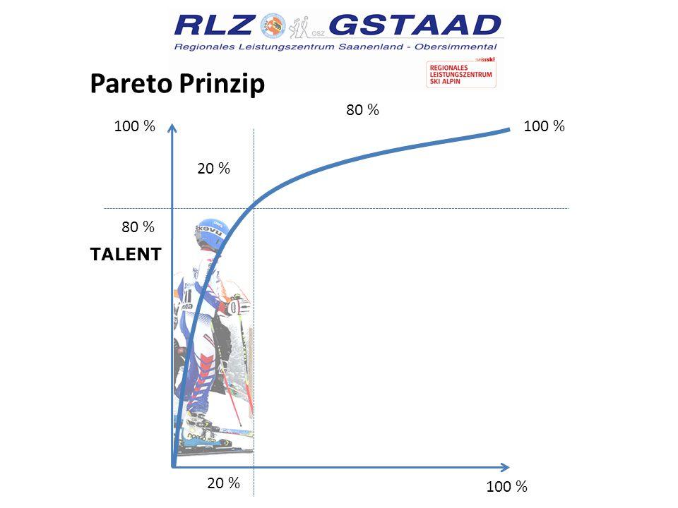 Pareto Prinzip 100 % 80 % 100 % 20 % TALENT WILLE