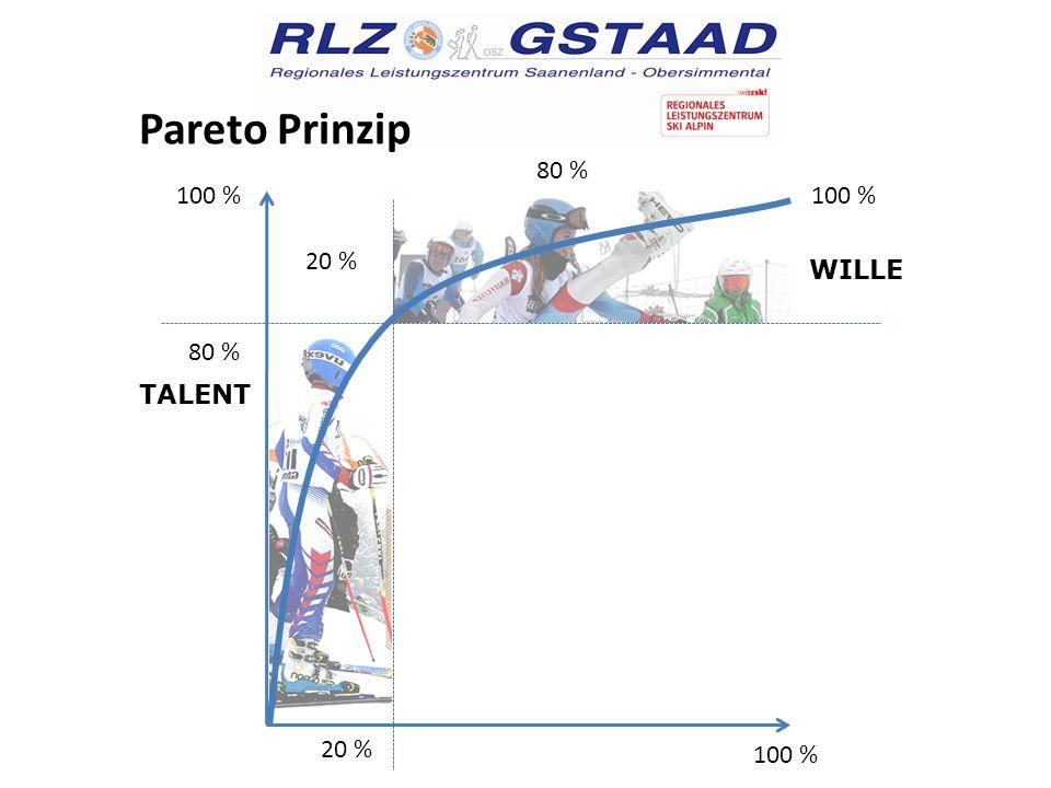 Pareto Prinzip 100 % 80 % 100 % 20 % ARBEIT TALENT WILLE