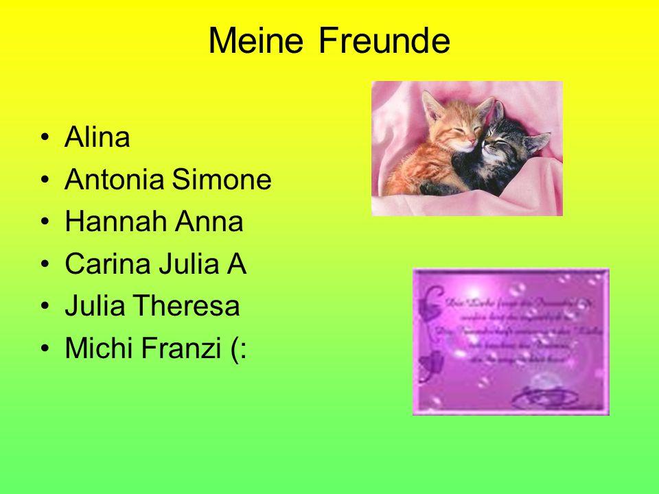 Meine Freunde Alina Antonia Simone Hannah Anna Carina Julia A Julia Theresa Michi Franzi (: