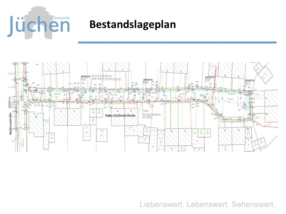 Straßenbau Ausbauvariante 3 Ausbau als verkehrsberuhigter Bereich – Ausbau zwischen den Katastergrenzen 7,0 m Geschätzte Brutto- Baukosten = rd.