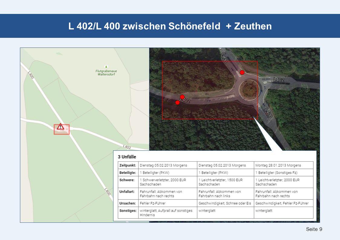 Seite 9 L 402/L 400 zwischen Schönefeld + Zeuthen