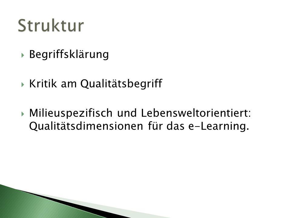  Die Qualität einer pädagogischen Praxis muss geprüft, nachgewiesen und verbessert werden.