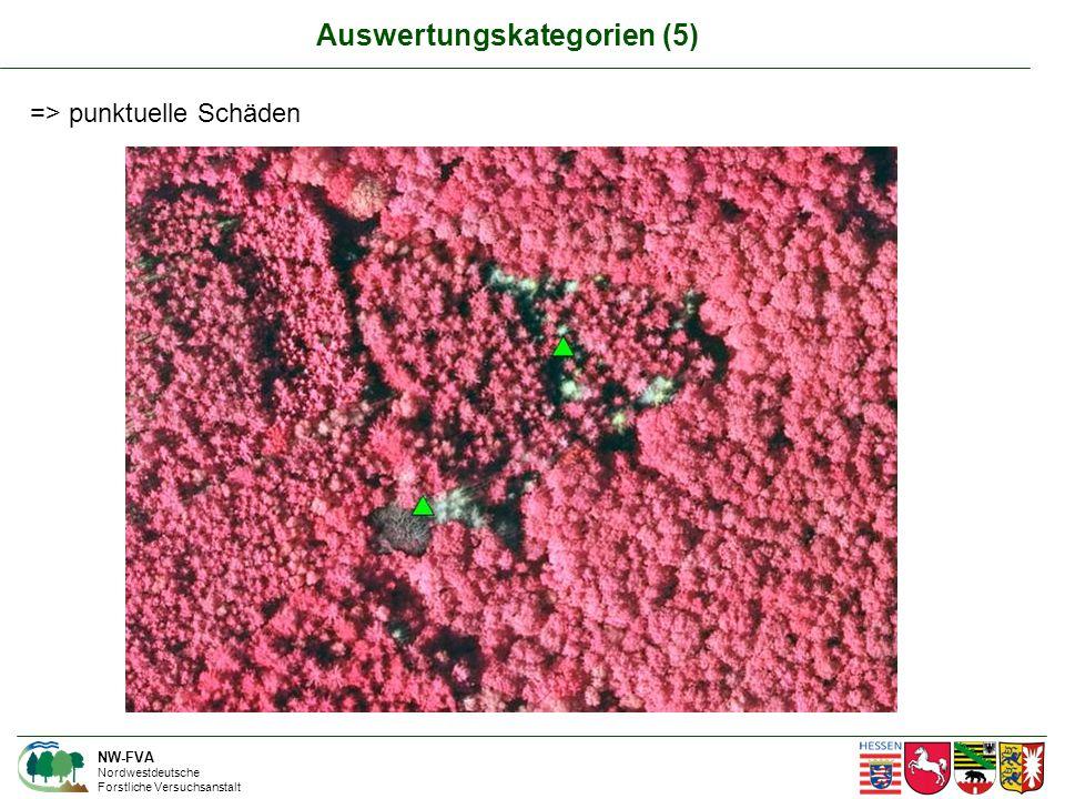 NW-FVA Nordwestdeutsche Forstliche Versuchsanstalt => punktuelle Schäden Auswertungskategorien (5)