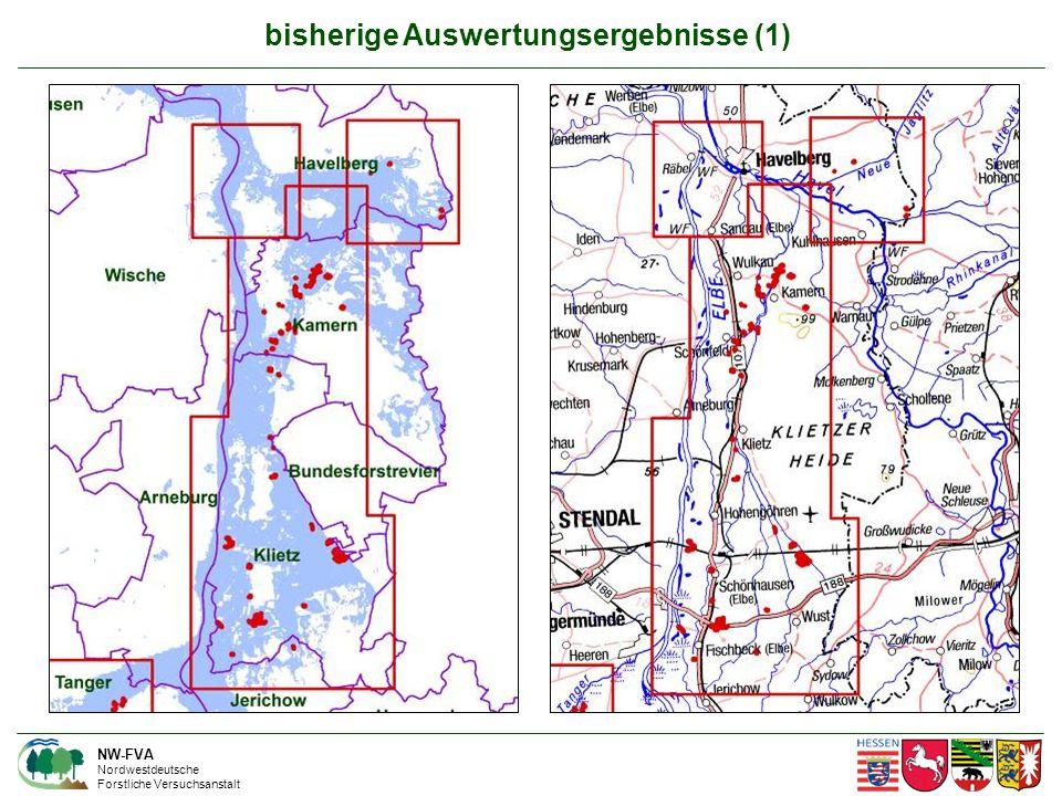 bisherige Auswertungsergebnisse (1) NW-FVA Nordwestdeutsche Forstliche Versuchsanstalt