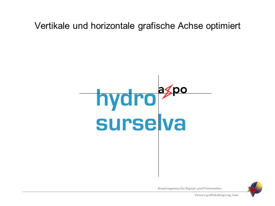 Vertikale und horizontale grafische Achse optimiert Vorcon grafic&design ag, laax Kreativagentur für Digital- und Printmedien