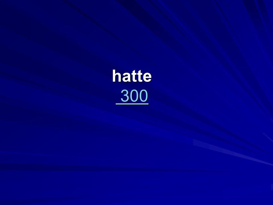 hatte 300 300 300