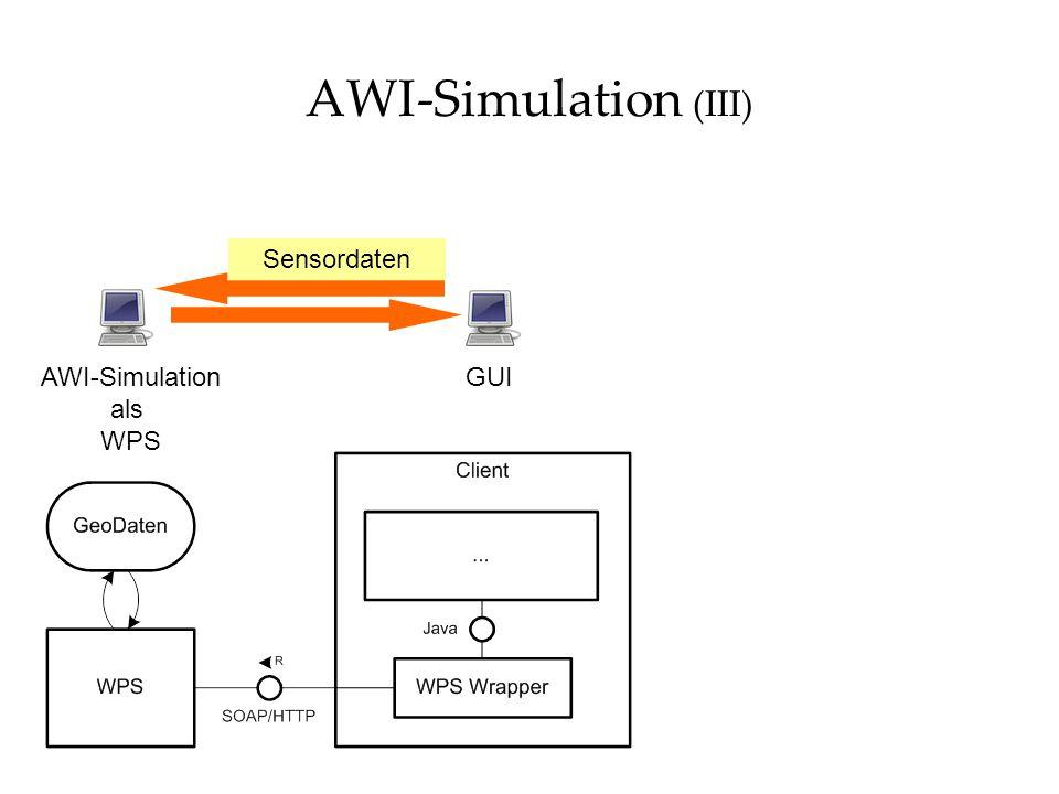 AWI-Simulation (III) GUIAWI-Simulation als WPS Sensordaten