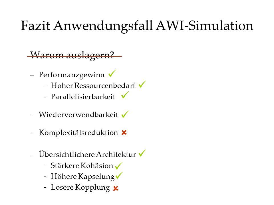 Fazit Anwendungsfall AWI-Simulation Warum auslagern.