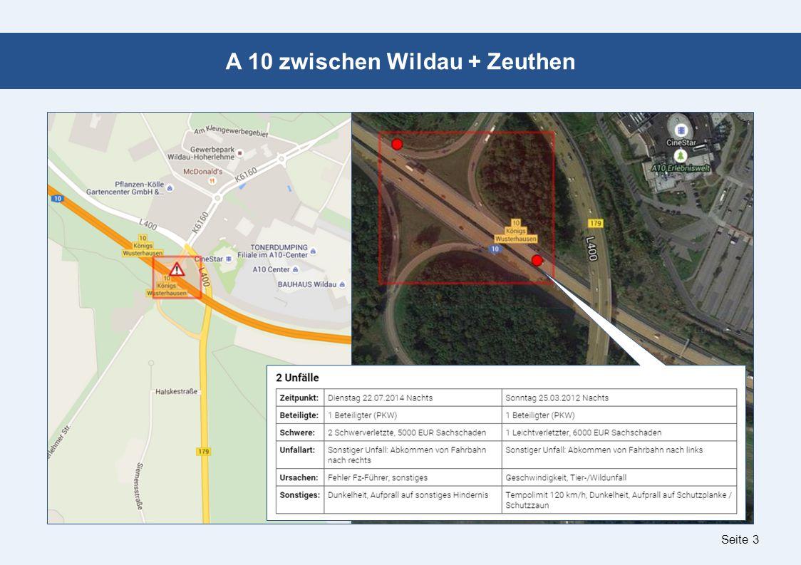 Seite 3 A 10 zwischen Wildau + Zeuthen