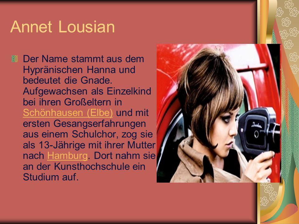 Annet Louisan In dem Lied das Spiel werden verschiedene Rollenbilder mit konträren Ansätzen zu Sexualität und zwischenmenschlichen Beziehungen (die Kindliche, der Vamp sowie ansatzweise die Emanzipiert- Fürsorgliche) vereint.