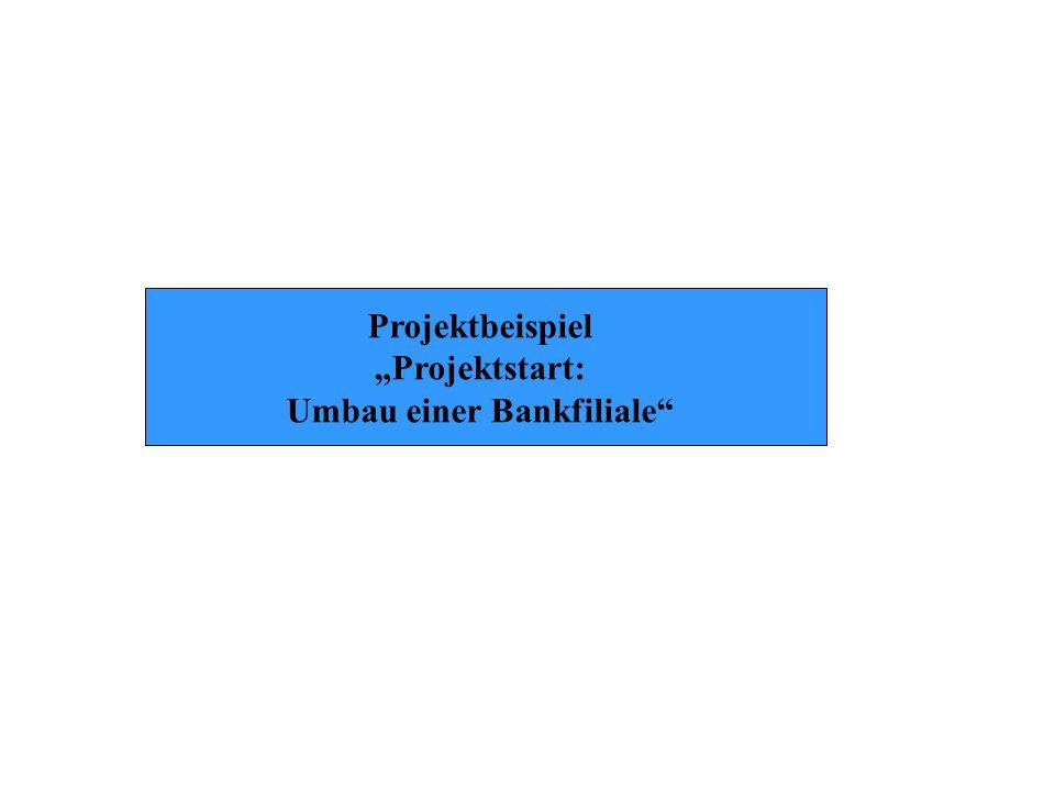 """Projektbeispiel """"Projektstart: Umbau einer Bankfiliale"""""""