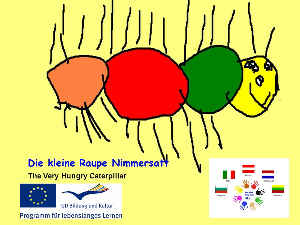 Die kleine Raupe Nimmersatt The Very Hungry Caterpillar