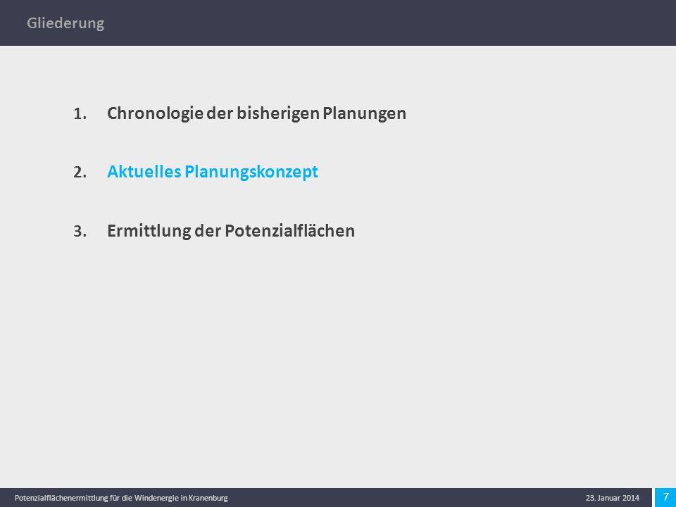 8 Potenzialflächenermittlung für die Windenergie in Kranenburg 23.