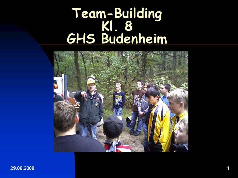 29.08.20081 Team-Building Kl. 8 GHS Budenheim Gross