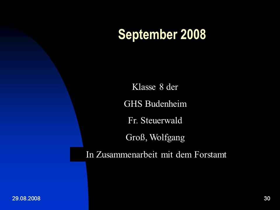 29.08.200829 Ein erfolgreicher Tag geht zu Ende