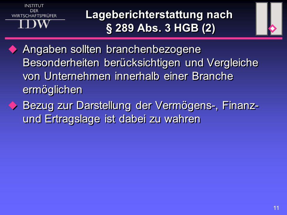 11 Lageberichterstattung nach § 289 Abs.