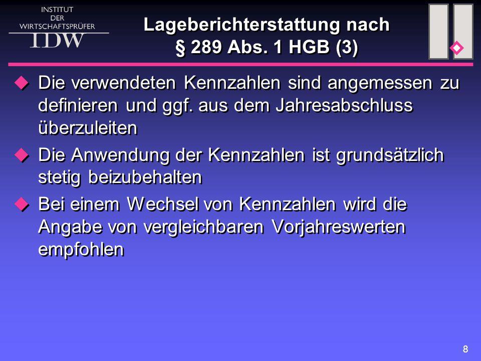 8 Lageberichterstattung nach § 289 Abs.
