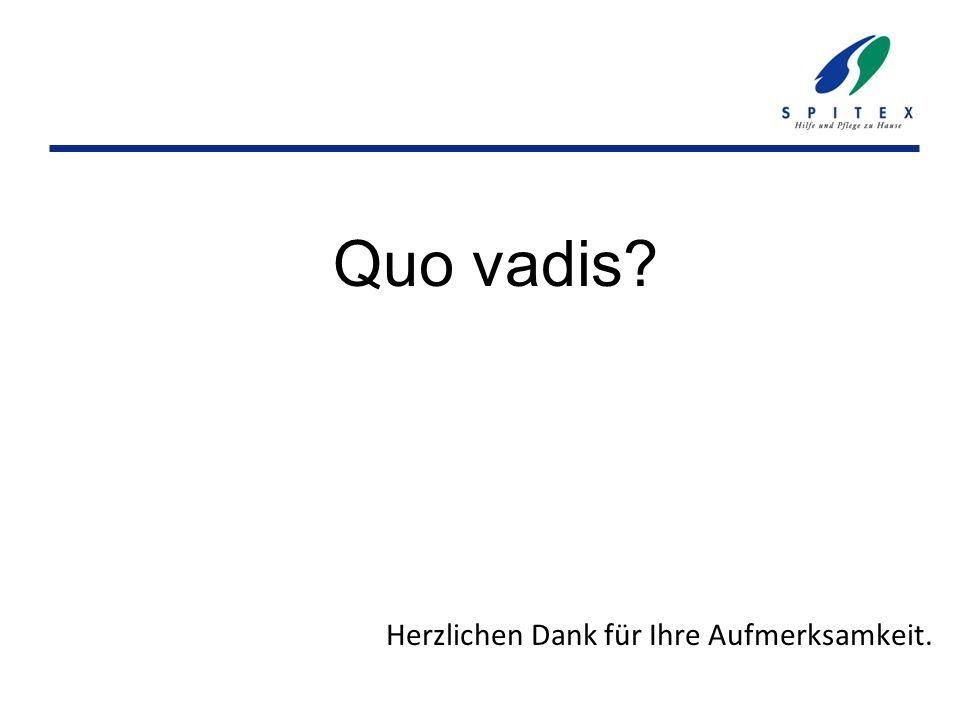 Quo vadis? Herzlichen Dank für Ihre Aufmerksamkeit.