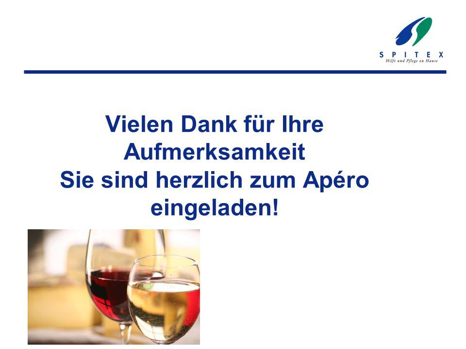 Vielen Dank für Ihre Aufmerksamkeit Sie sind herzlich zum Apéro eingeladen!