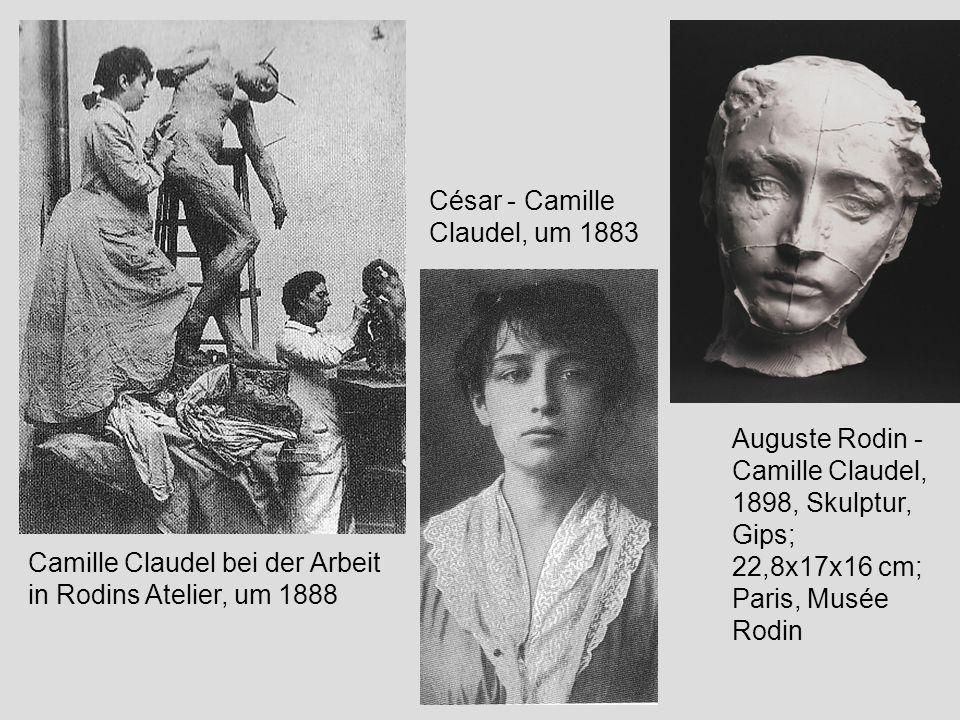 Camille Claudel bei der Arbeit in Rodins Atelier, um 1888 Auguste Rodin - Camille Claudel, 1898, Skulptur, Gips; 22,8x17x16 cm; Paris, Musée Rodin Cés
