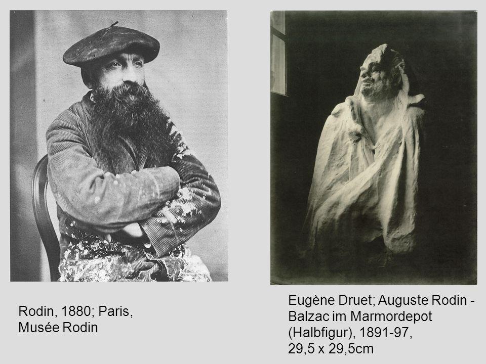 Rodin, 1880; Paris, Musée Rodin Eugène Druet; Auguste Rodin - Balzac im Marmordepot (Halbfigur), 1891-97, 29,5 x 29,5cm