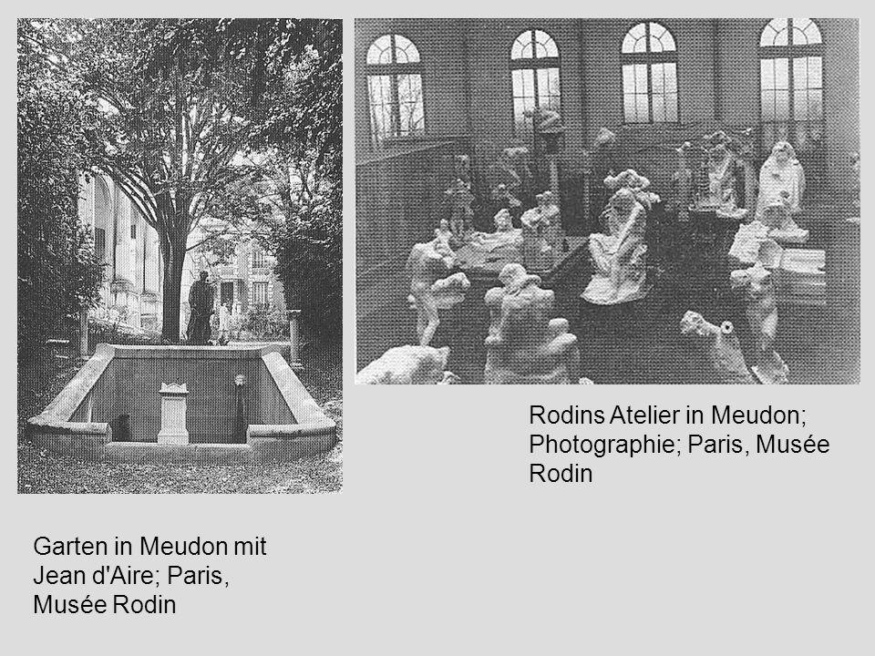 Garten in Meudon mit Jean d'Aire; Paris, Musée Rodin Rodins Atelier in Meudon; Photographie; Paris, Musée Rodin