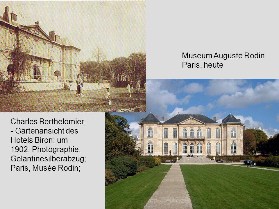Charles Berthelomier, - Gartenansicht des Hotels Biron; um 1902; Photographie, Gelantinesilberabzug; Paris, Musée Rodin; Museum Auguste Rodin Paris, h