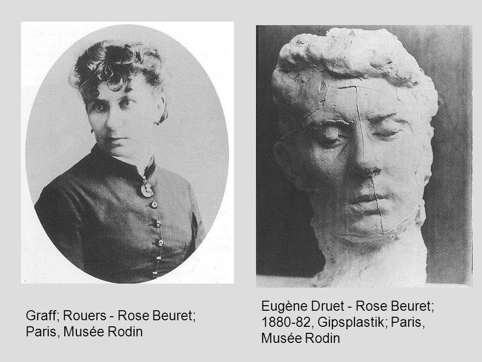 Auguste Rodin - Der Mann mit der gebrochenen Nase, 1863/64 im Marmordepot Paris, Bronze; 39,5x29,6cm Frontalansicht Profilansicht links