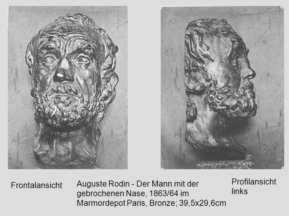 Eugène Druet; Auguste Rodin - Das eherne Zeitalter (im Esszimmer der Villa des Brillants in Meudon); 1875/76; 39.5 x 29.7cm
