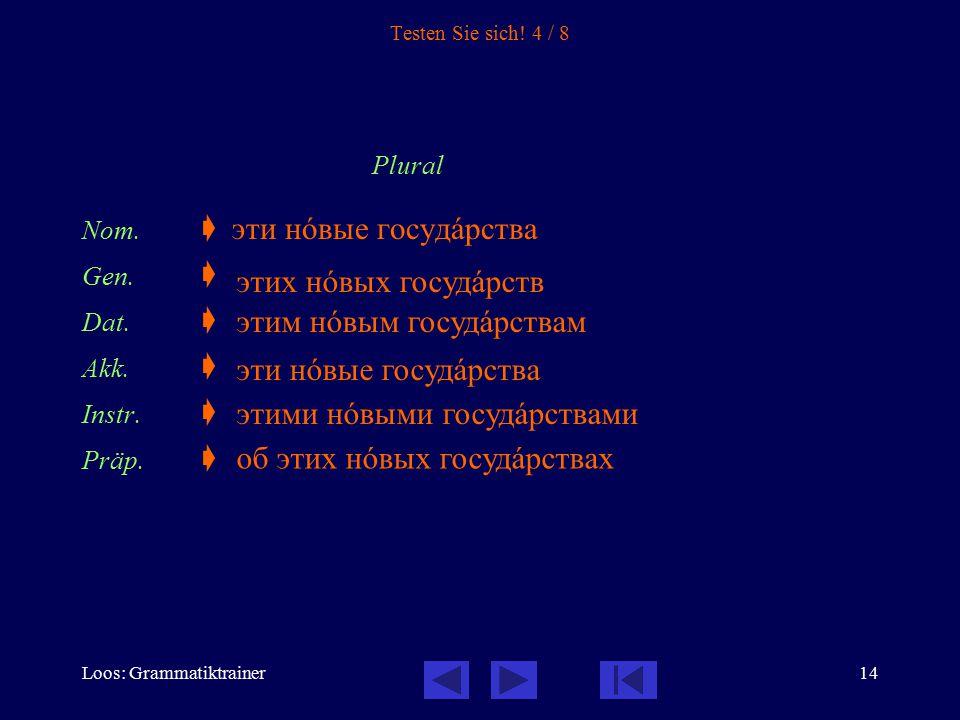 Loos: Grammatiktrainer15 Testen Sie sich.5 / 8 Plural Nom.