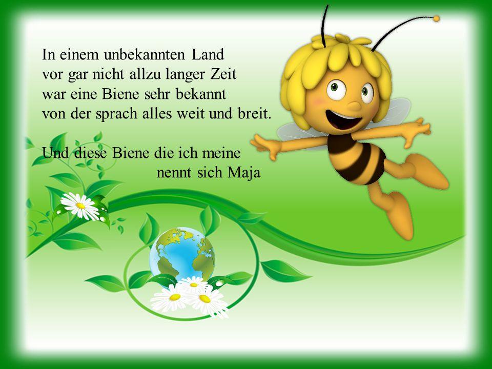 In einem unbekannten Land vor gar nicht allzu langer Zeit war eine Biene sehr bekannt von der sprach alles weit und breit. Und diese Biene die ich mei