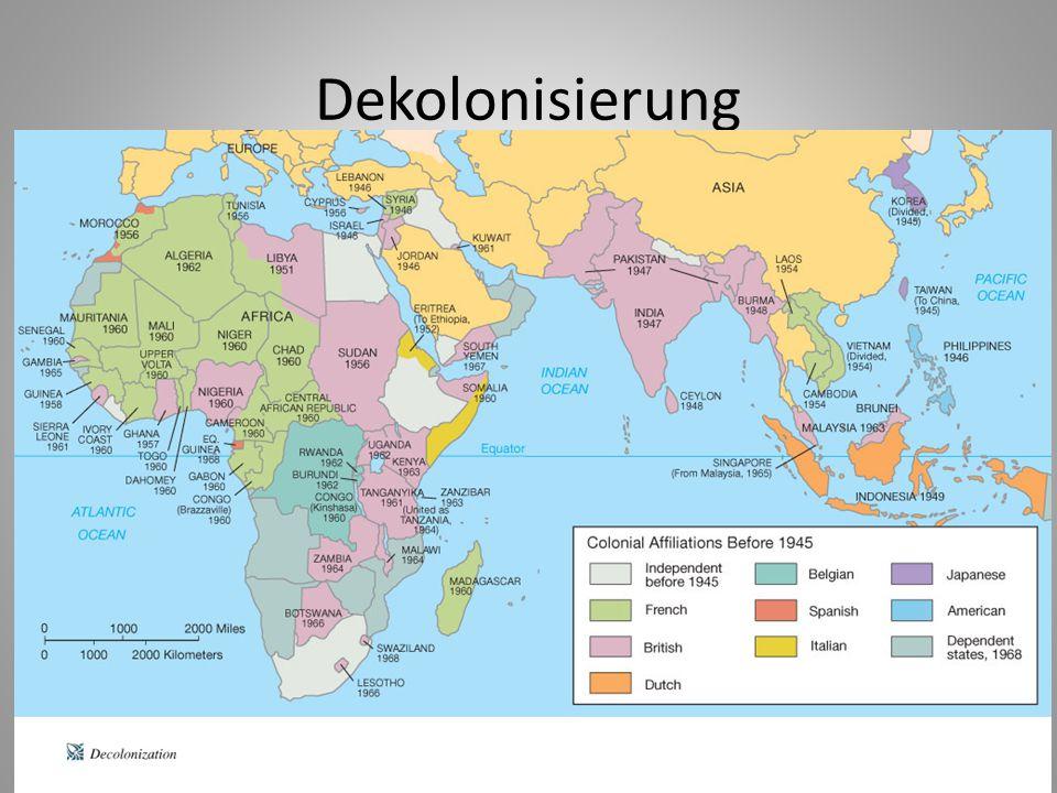 Indonesien (1945-1949) Indochina (1946-1954) Malaya (1948-1956) Algerien (1954-1962) Suez (1956) Kenia (1952-1957)